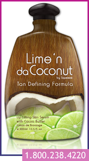 lime'n da coconut indoor tanning lotion